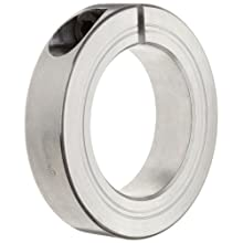 Ruland One-Piece Clamping Shaft Collar, Aluminum, Metric