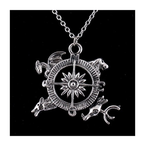 Lefinis Christmas Gift Game Of Thrones Inspired Compass Necklace