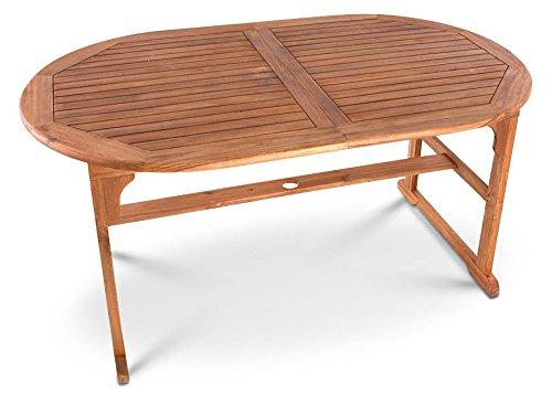 Akazie Gartentisch Auszugstisch 150 x 90 cm günstig bestellen
