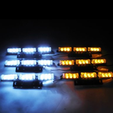 Dual Color Dash Warning Security Truck Strobe Light Recovery 54-LED Flasher #73