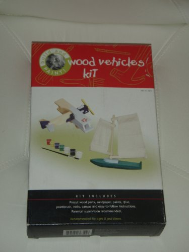 Build and Paint! Wood Vehicles Kit (Boat and Airplane) - 1