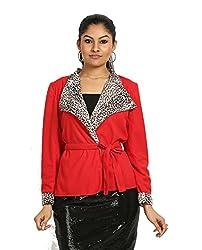 Fbbic Women's Short Coat (16140_Medium_Red)