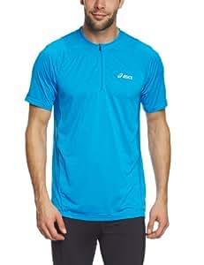 Asics Herren kurzärmliges Funktionsshirt Hermes 1/2 Zip Top, surf blue, XXL, 321313