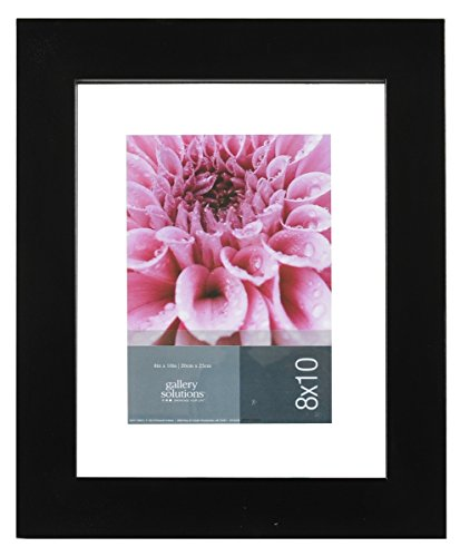 Gallery Solutions Wood Float Frame, 8 by 10-Inch, Black (Float Photo Frame compare prices)