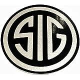 """Amazon.com: Sig Sauer Decal 8"""" Chrome Sticker: Automotive"""
