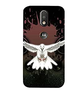 99Sublimation Flying white Pigeon 3D Hard Polycarbonate Back Case Cover for Motorola Moto G4