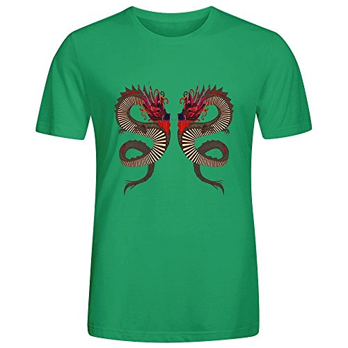 Dragon Ink Ssb White T Shirts For Men O Neck Green Funny