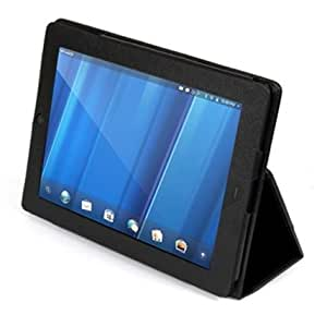 Supcase (TM) PU Leather Case for HP TouchPad Touchscreen Tablet With 3-in-1 Built-in Stand (Black)