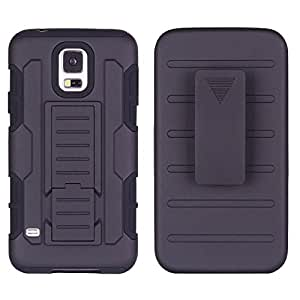 Gioiabazar Hybrid Future Armor Hard Case Belt Clip Holster Stand Cover for Samsung Galaxy S5