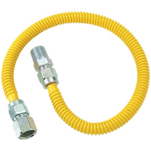 Brasscraft Cssd54-48 Gas Dryer & Water Heater Flex-Lines (1/2''Od (1/2'' Fip X 1/2'' Mip) X 48'') B