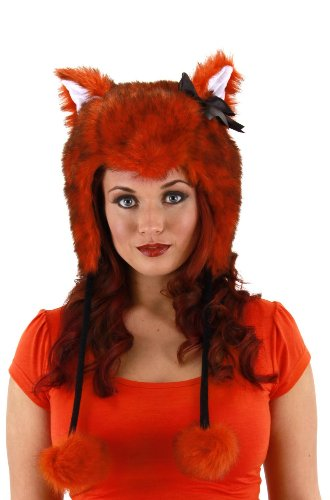 Red Fox Costume Laplander Hat Adult