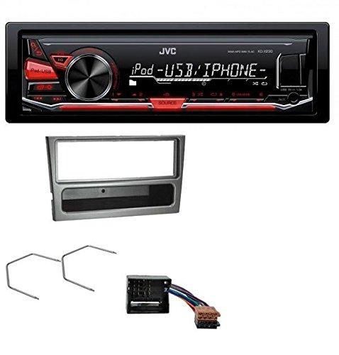 JVC-MP3-USB-Autoradio-fr-Opel-Corsa-C-Meriva-Signum-Vectra-C-Quadlock-charcoal