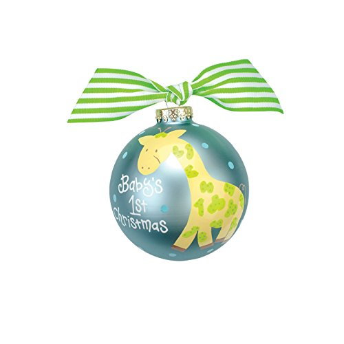 Coton Colors Giraffe Glass Ornament