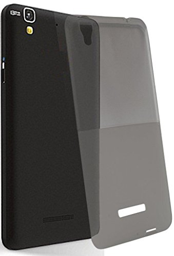 Exclusive Soft Silicon Transprent Back Case Cover For Panasonic P55 - Black