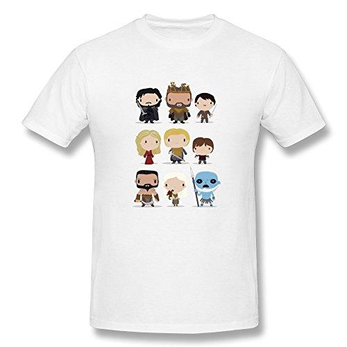 Walliam Man'S Cute Game T-Shirts Size L White