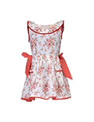 Budding Bees White Floral Printed Fit & Flare Dress