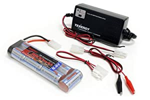 Combo: Tenergy Smart Universal Charger for NiMH/NiCD Battery Packs(6v - 12v) + Tenergy NiMH 3800mAh 8.4V 7S Flat Battery w/ Tamiya Connector