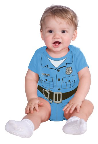 Rubie'S Costume My First Halloween Police Officer Onesie Costume, Blue, 6-12 Months