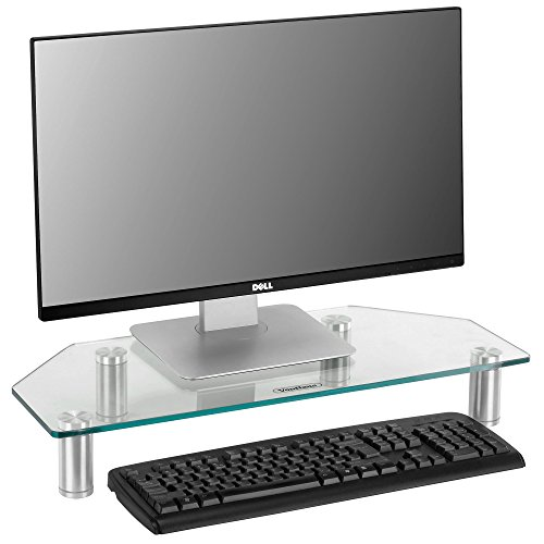Computers, Laptops & TVs - 24 x 10 inches - Clear - Corner Desk Ideas