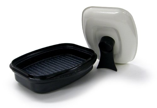 Microhearth Grill Pan for Microwave Cooking, Black
