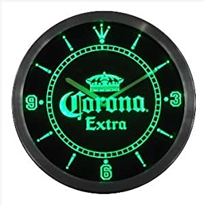 corona beer bar extra couronne neon enseigne lumineuse a led horloge murale cuisine. Black Bedroom Furniture Sets. Home Design Ideas