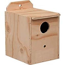 Prevue Pet Products BPV1102 Wood Inside Mount Nest Box for Birds, Lovebird