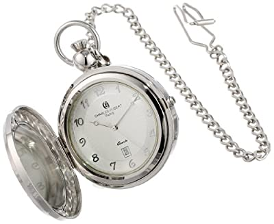 Charles Hubert Pocket Watch 3851 Chrome Plated Picture Frame Full Hunter