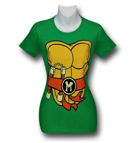 TMNT Michelangelo Costume Juniors T-Shirt- XLarge