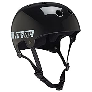 Pro-tec Bucky Gloss Skate Helmet, Black Retro, Medium
