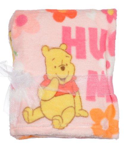 Disney Winnie The Pooh Plush Printed Baby Blanket, Pink