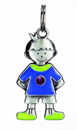 Birthstone Kid's Tag - Boy - February - 1
