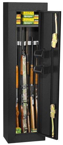 Homak Hs30103605 6-Gun Security Cabinet, Gloss Black