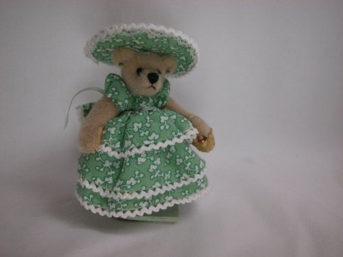 "World of Miniature Bears 3"" Cashmere Bear Anne #765 Collectible Miniature Made by Hand"