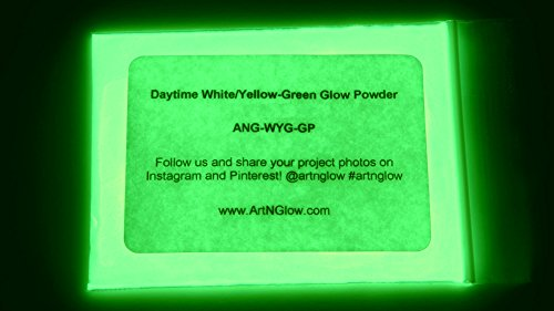 Glow In The Dark Pigment Powder - 12g - Neutral And Fluorescent Colors (Neutral Green) (Night Glow Paint compare prices)