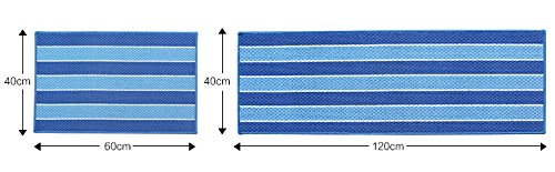 E.a@market the Kitchen Floor Mats Resistance Soiling Mats 2pcs (Blue)
