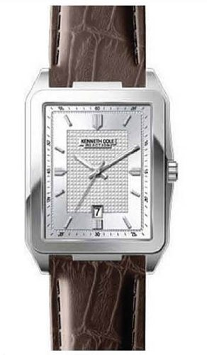 Kenneth Cole New York Leather Collection Silver Dial Men's watch #KC1483