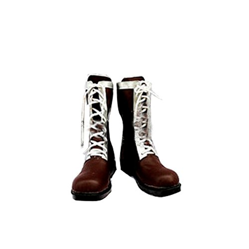 [Japan Cosplay] Kara no Kyokai (Boundary of Emptiness) Ryogi Shiki Brown Long Boots Japanese Anime Cosplay Shoes Mens