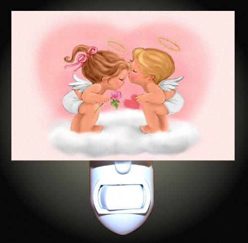 Baby Angels Kiss Decorative Night Light