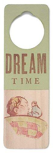 Tree By Kerri Lee Wooden Doorknob Sign Dream Time, Green