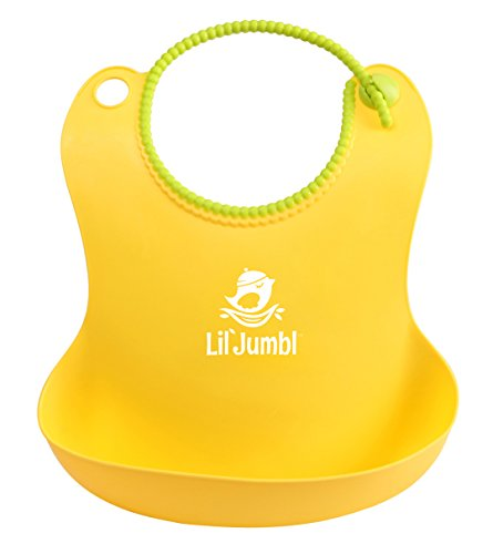 lil-jumbl-soft-silicone-baby-bib-for-easy-clean-feeding-yellow