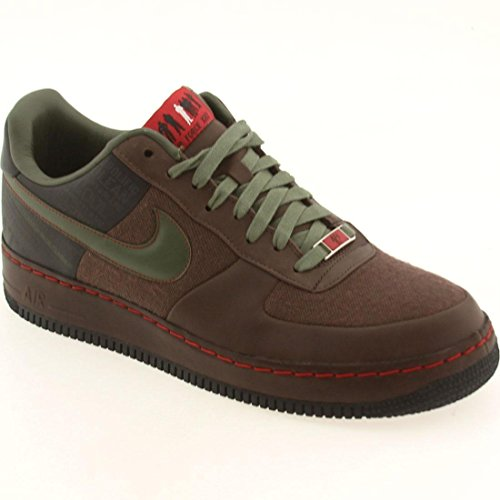 Nike Air Force 1 Sprm '07 (Natt) Men US 11.5 Brown Basketball Shoe (High Top White Air Force 1 compare prices)