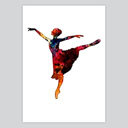 The Art Of Ballet Watercolor Art Print, 8.5 x 11 inches