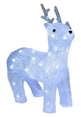 Idena renna luminosa a led per interni e esterni amazon - Renna natalizia luminosa per giardino ...