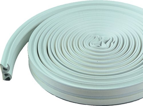 M-D Building Products 43846 All-Climate Thermalblend Weatherseal - Wave Profile, 17 Feet, White