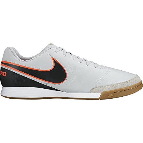 Nike Men's Tiempo Genio II Leather IC Pure Platinum/Black/Hyper Orange Indoor Soccer Shoe 8.5 Men US (Tiempo Nike Ii compare prices)