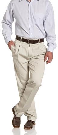Nautica Men's Sportswear True Khaki Pleated Cuffed Pant, True Stone, 32W x 30L