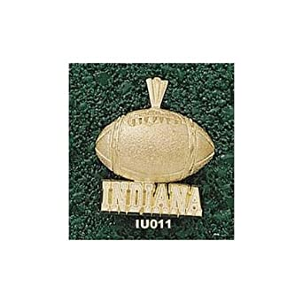 Indiana Hoosiers Indiana Football Pendant - 14KT Gold Jewelry by Logo Art