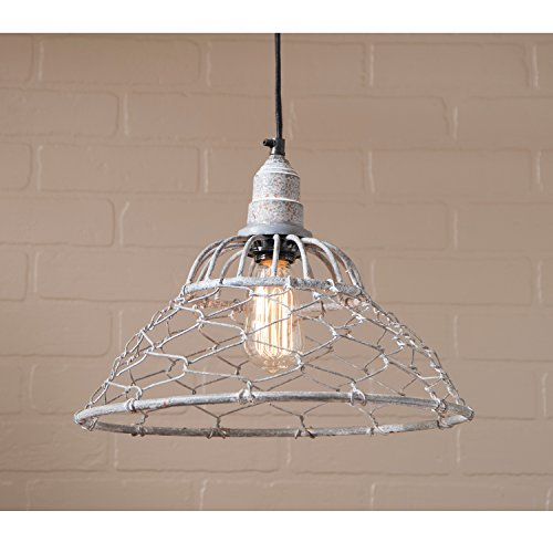 Loft Chicken Wire Cage Pendant in Weathered Zinc (Chicken Loft compare prices)