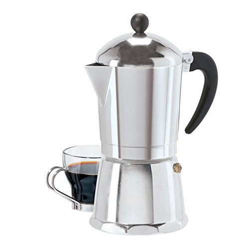 6 Cup Cast Aluminum Stovetop Espresso Maker (355 ML./12 Oz.)