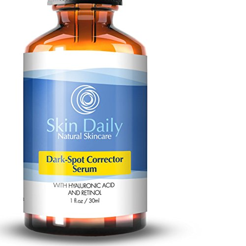 Best Dark Spot Corrector For Face Serum – Effective for Melasma, Acne, Age Spots, Dark Spots, and Sun Spots- Contains Hyaluronic Acid, Witch Hazel, Salicylic Acid, Retinol (1%), Glycolic Acid, – 1 oz